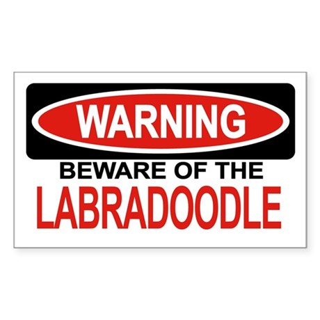 LABRADOODLE Rectangle Sticker