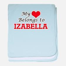 My heart belongs to Izabella baby blanket