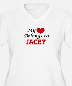 My heart belongs to Jacey Plus Size T-Shirt
