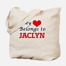 My heart belongs to Jaclyn Tote Bag