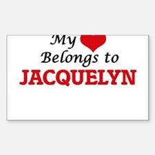 My heart belongs to Jacquelyn Decal