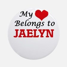 My heart belongs to Jaelyn Round Ornament