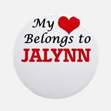 My heart belongs to Jalynn Round Ornament