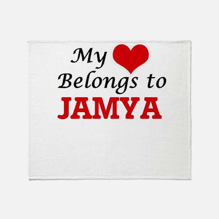 My heart belongs to Jamya Throw Blanket