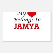 My heart belongs to Jamya Decal