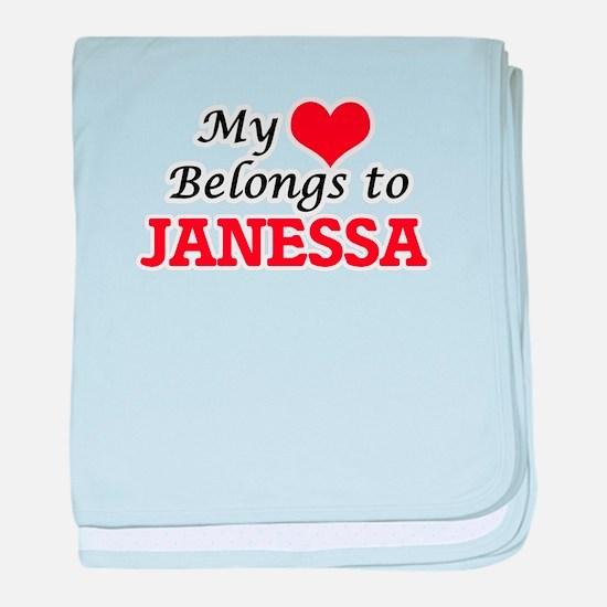 My heart belongs to Janessa baby blanket