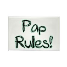 Pap Rules! Rectangle Magnet (100 pack)