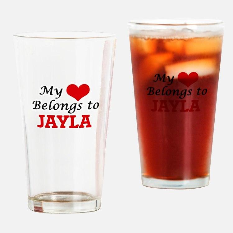 My heart belongs to Jayla Drinking Glass