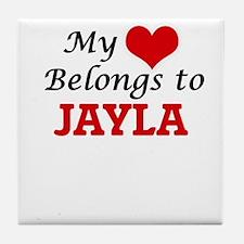 My heart belongs to Jayla Tile Coaster
