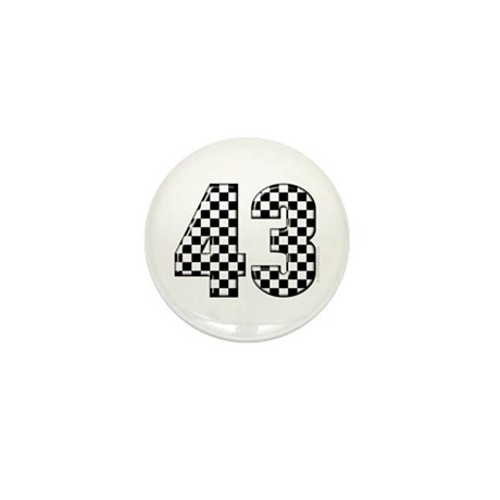 Checkered Racing #43 Mini Button