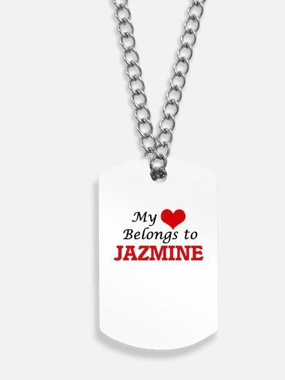 My heart belongs to Jazmine Dog Tags