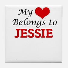 My heart belongs to Jessie Tile Coaster