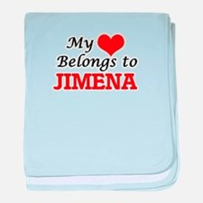 My heart belongs to Jimena baby blanket