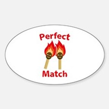 Perfect Match Sticker (Oval)