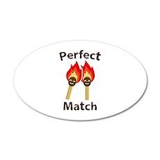 Perfect Match 22x14 Oval Wall Peel