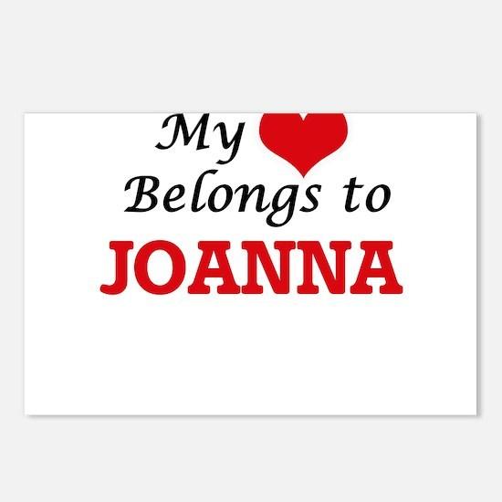 My heart belongs to Joann Postcards (Package of 8)