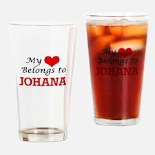 My heart belongs to Johana Drinking Glass