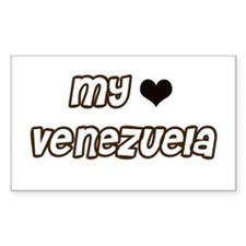 my heart Venezuela Rectangle Decal
