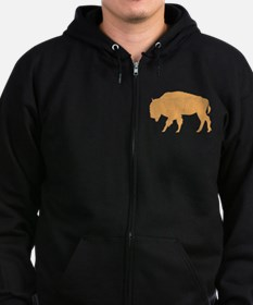 Unique North dakota Zip Hoodie