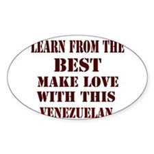 Learn best from this Venezuel Oval Decal