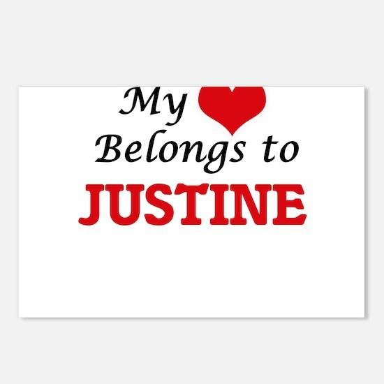 My heart belongs to Justi Postcards (Package of 8)