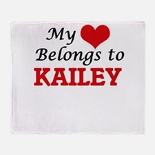 My heart belongs to Kailey Throw Blanket