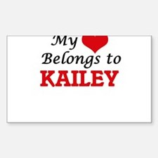 My heart belongs to Kailey Decal