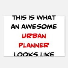 awesome urban planner Postcards (Package of 8)