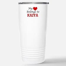 My heart belongs to Kai Stainless Steel Travel Mug
