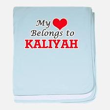 My heart belongs to Kaliyah baby blanket