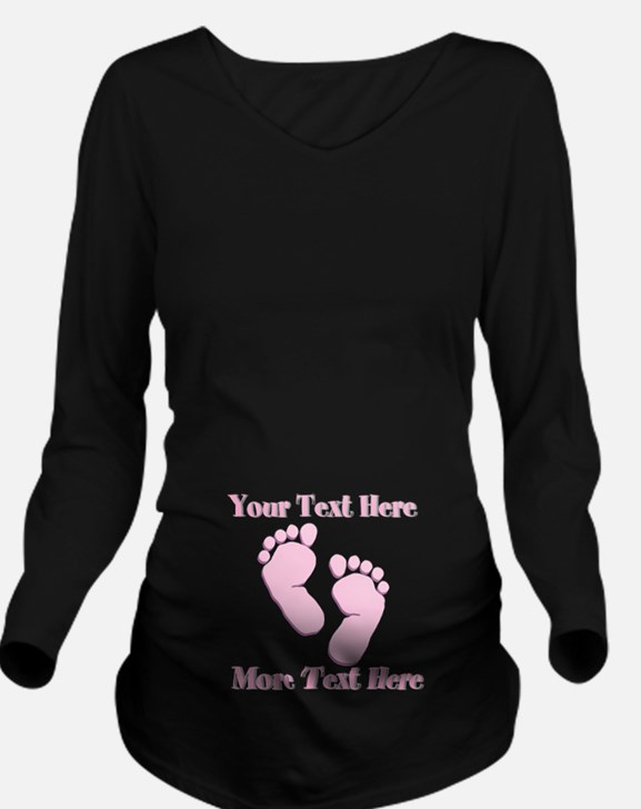 your text here Long Sleeve Maternity T-Shirt
