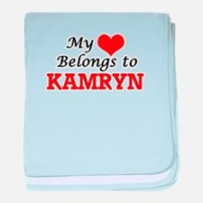 My heart belongs to Kamryn baby blanket