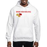 Drunk Man Walking Hooded Sweatshirt