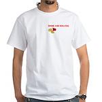Drunk Man Walking White T-Shirt