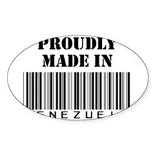 Made in Venezuela Oval Decal