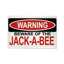 JACK-A-BEE Rectangle Magnet