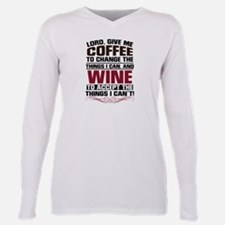 Coffee & Wine Plus Size Long Sleeve Tee