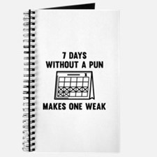 7 Days Without A Pun Journal