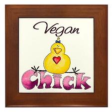 Vegan Chick 2 Framed Tile