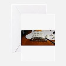 Close up music photo electric guita Greeting Cards