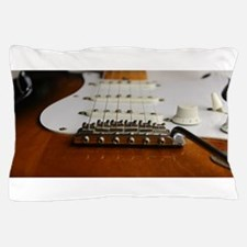 Close up music photo electric guitar Pillow Case