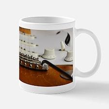 Close up music photo electric guitar Mugs