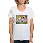 Garden / Dalmation Women's V-Neck T-Shirt
