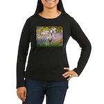 Garden / Dalmation Women's Long Sleeve Dark T-Shir