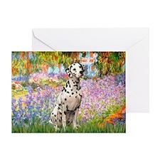 Garden / Dalmation Greeting Card