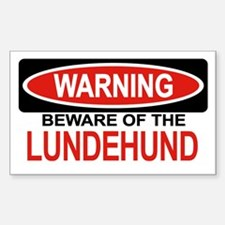 LUNDEHUND Rectangle Decal
