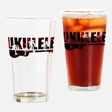 Cool Ukulele Drinking Glass