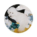 LUCKY DOG STUFFED TOY ORNAMENT (ROUND)