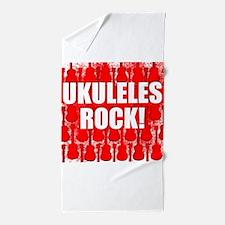 Ukuleles Rock Beach Towel