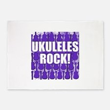 Popular Ukulele 5'x7'Area Rug